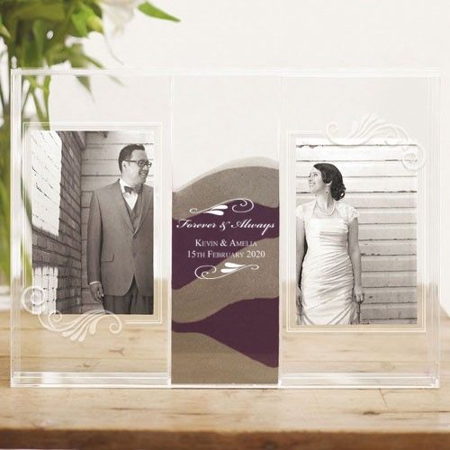 Flourish Clearly Love Sand Ceremony Frame