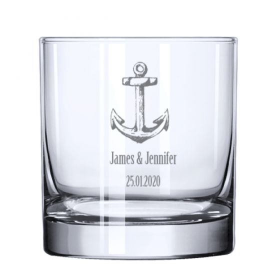 Anchor Rocks Whiskey Glass