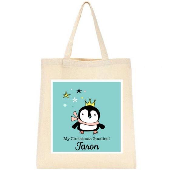 Christmas Penguin Tote Bag
