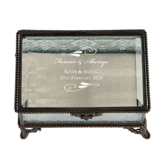 Flourish Rustic Glass Box