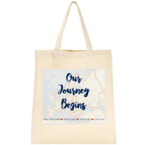Our Journey Begins Design Customized Tote Bag