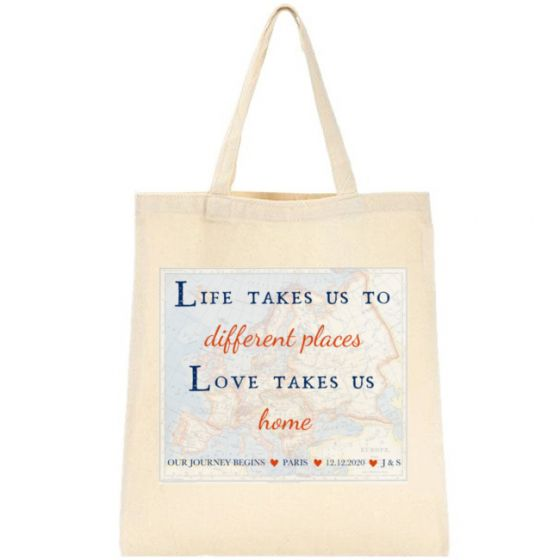 Life Love Travel Tote Bag