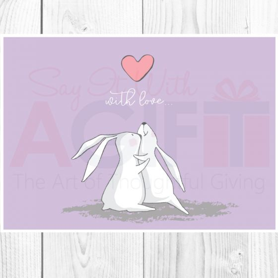 With Love Rabbit Greeting Card