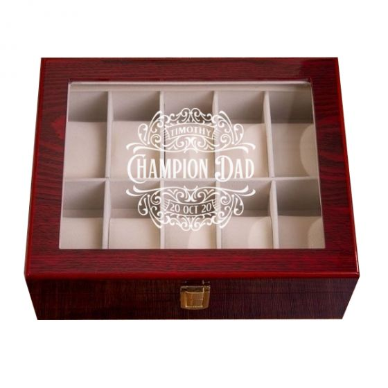 Victorian Mahogany Watch Box - 10 Slots