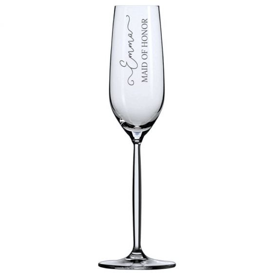 Whimsical Script Toasting Flute