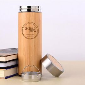 Bicycle Wooden Flask