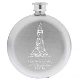 Set Sail Round Hip Flask