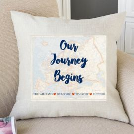 Our Journey Begins Throw Pillow