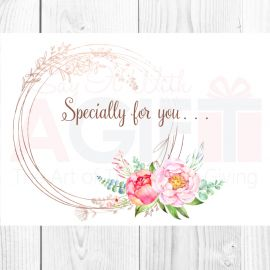 Specially For You Floral Greeting Card
